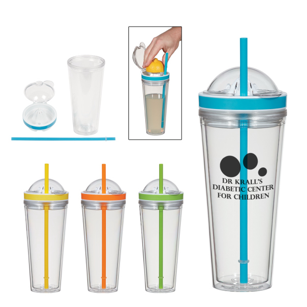 20 Oz. Juicer Tumbler With Straw