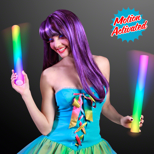 Motion Activated Lights Multicolor Cheer Stick - Blank