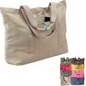Pigment Dyed Large Canvas Tote
