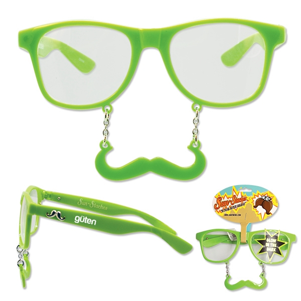 Green Glow-in-the-Dark Sun-Stache