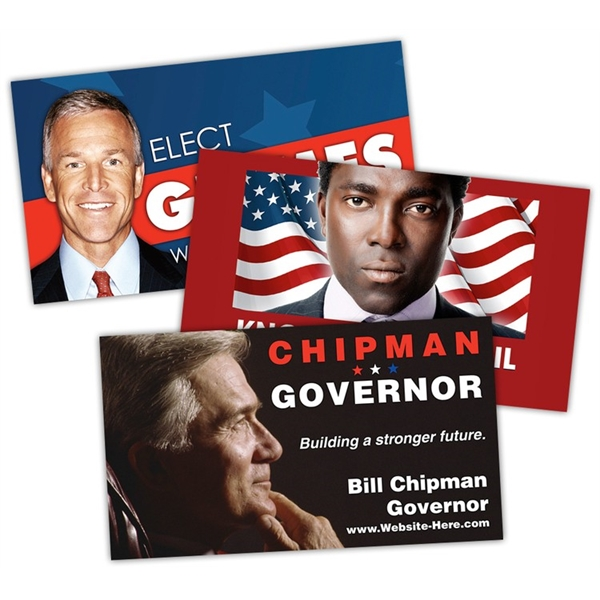 political business card magnet 35x2 square corners 20