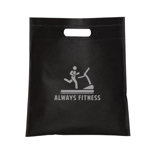 SMALL NON WOVEN CUT-OUT HANDLE TOTE
