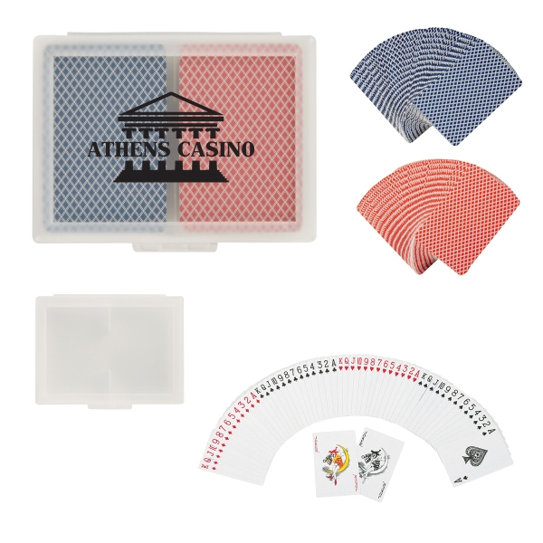 Double Playing Cards in Case