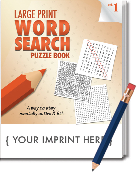 picture about Large Printable Word Search titled PUZZLE PACK, Substantial PRINT Phrase Seem Puzzle Fastened - Quantity 1
