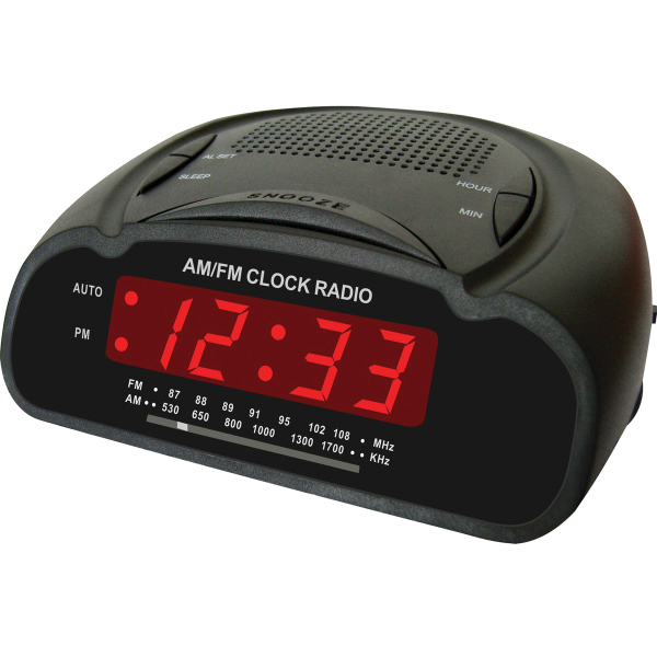 am fm butterfly desk radio with alarm clock goimprints. Black Bedroom Furniture Sets. Home Design Ideas