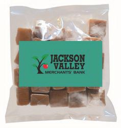 Business Card Magnet w/Small Bag of Caramels