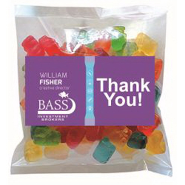 Business Card Magnet w/Small Bag of Gummy Bears