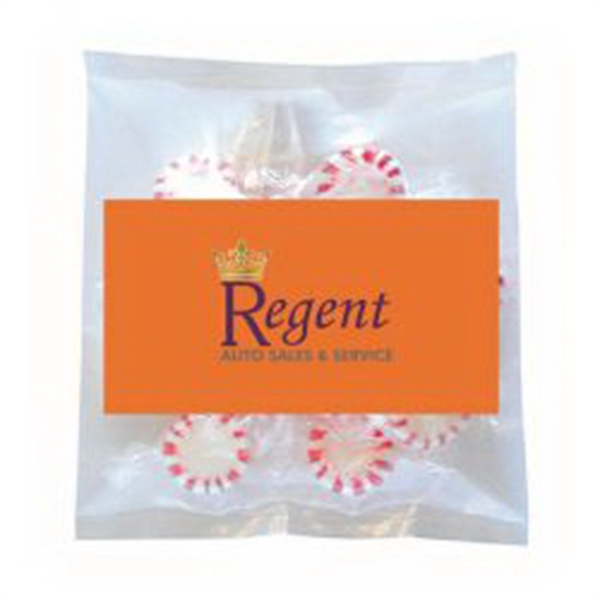 Business Card Magnet w/Small Bag of Peppermints