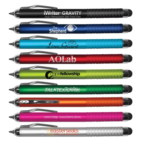 iWriter Gravity Auto-Retractable Ball Point Pen with Stylus