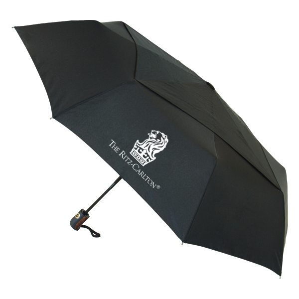 "Vented Director Umbrella - 46"" arc, auto-open & auto-close"