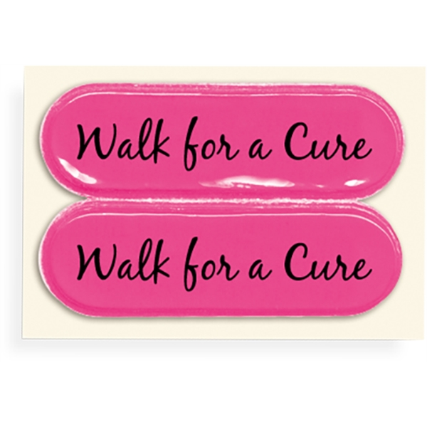 Breast Cancer Awareness Britefoot(R) Sneaker Stickers