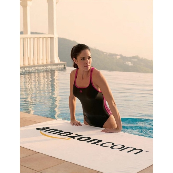 Midweight White Beach Towel