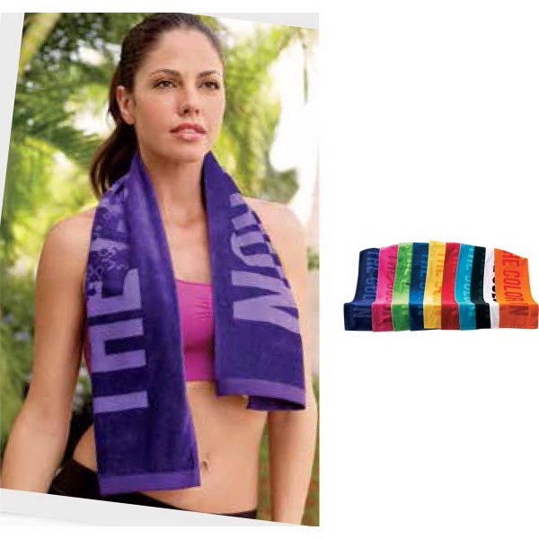 Coloired Turkish Signature (TM) Workout Towel