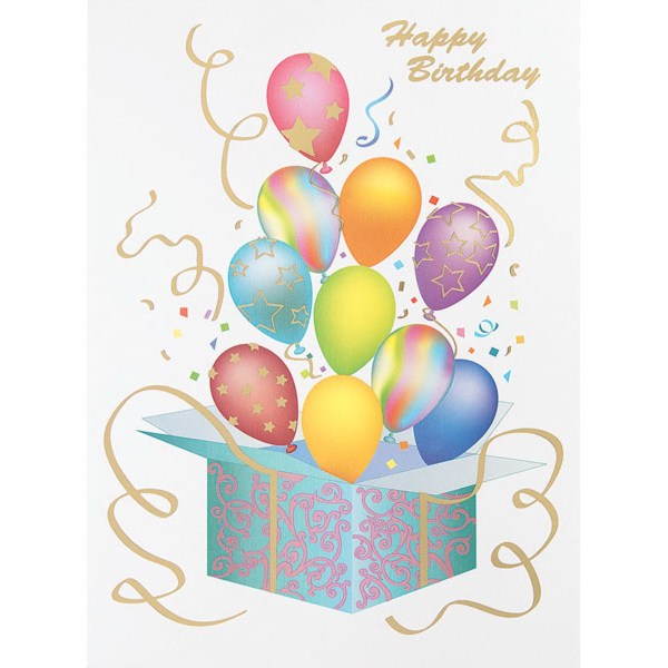 Birthday balloon collage greeting card goimprints box of balloons greeting card bookmarktalkfo Images