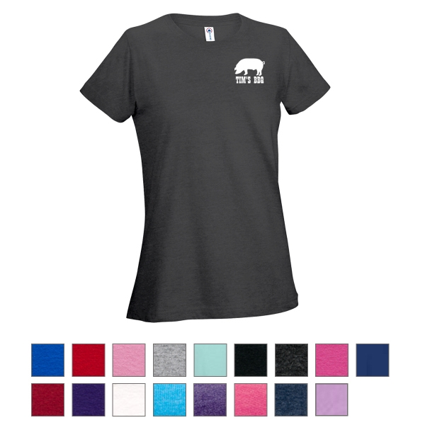 Delta (R) 30/1's Soft Spun Ladies Tee 4.3 Oz.