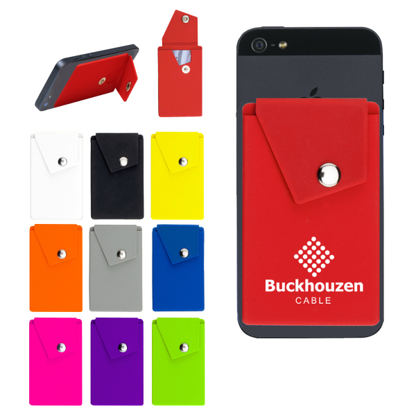 Silicone Phone Pocket with Stand