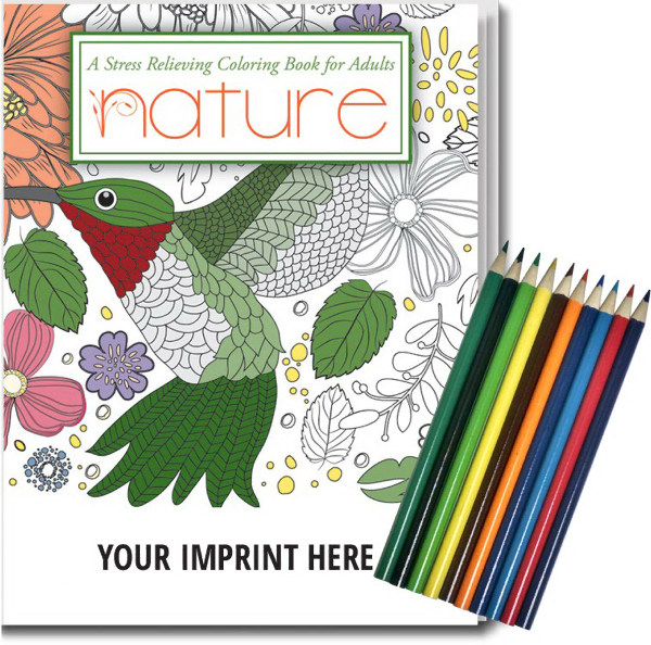 Nature. Stress Relieving Coloring Books for Adults - GOimprints