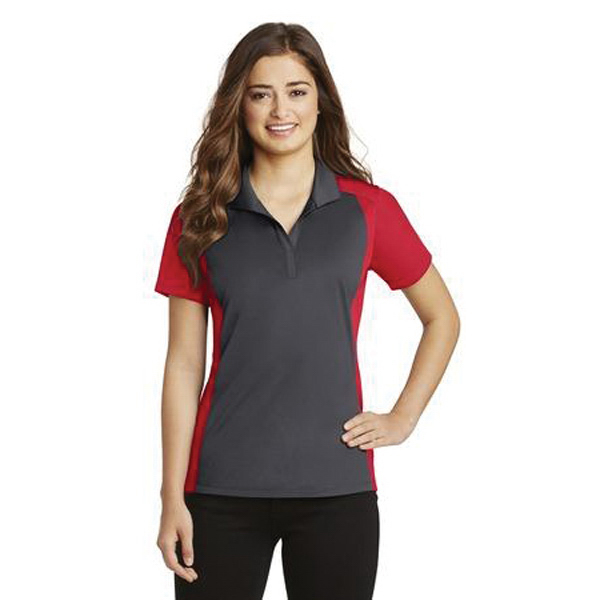 Sport-Tek (R) Ladies Colorblock Micropique Sport-Wick Polo