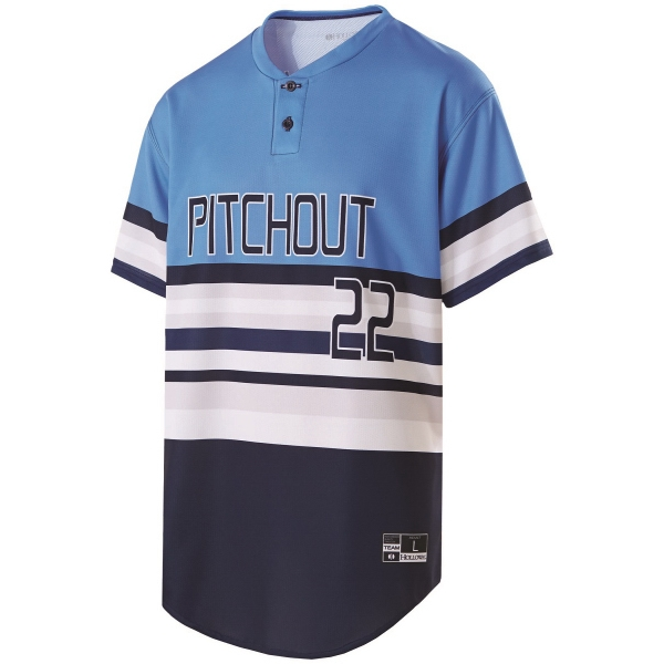 a15b48c92 Adult Custom Sublimated Two-Button Baseball Jersey - GOimprints