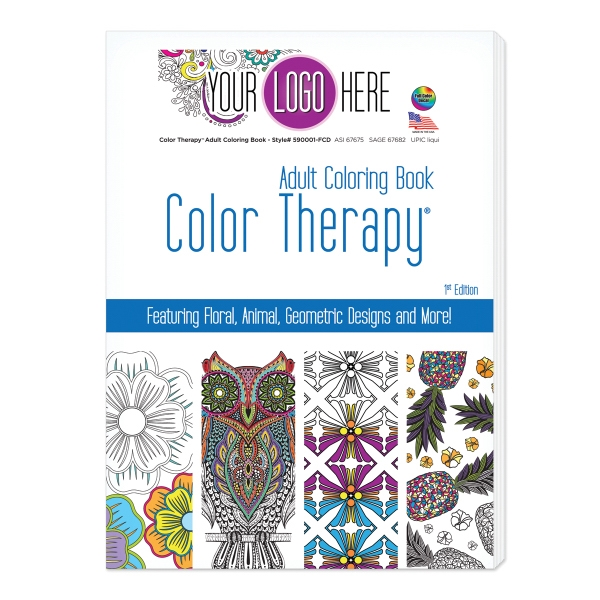 Color Therapy 24 Page Adult Coloring Book - GOimprints