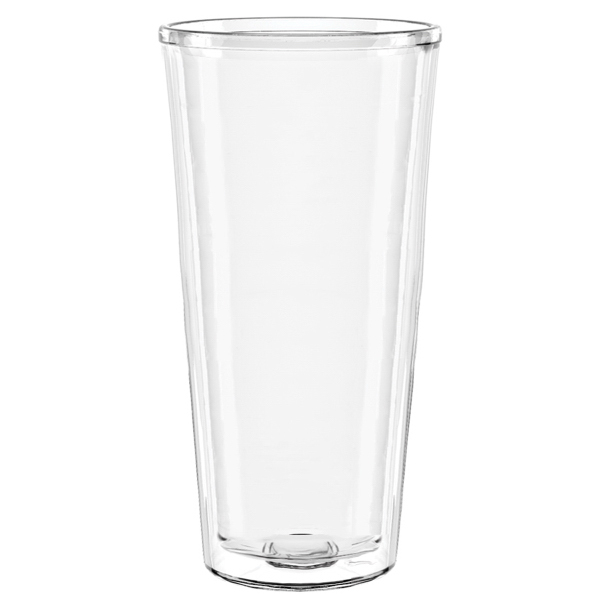 22 oz Smooth Wall Shelby Clear Tumbler WITH LID and STRAW GOimprints