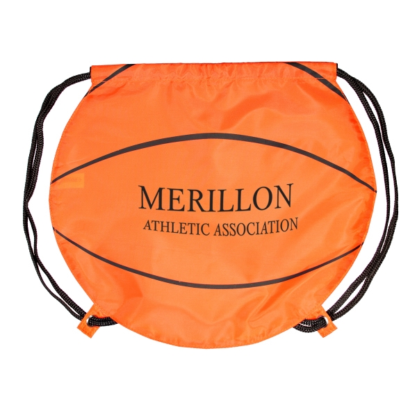 GameTime! (R) Basketball Drawstring Backpack