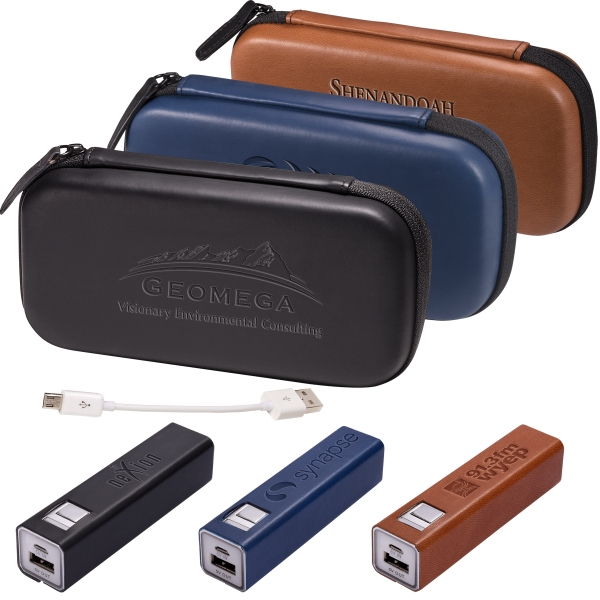 Tuscany (TM) Tech Case and Power Bank Gift Set