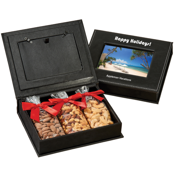 Picture Frame Keepsake Gift Box With Almonds Cahsews Nuts Goimprints