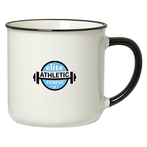 SPRING 350 ML. (12 OZ.) MUG WITH COLOURED RIM/HANDLE