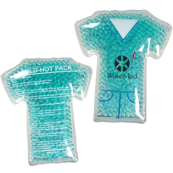 Gel Bead Hot/Cold Pack in Nurse Scrubs Shape