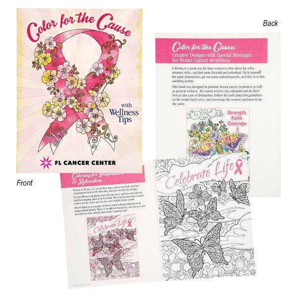Color For The Cause Breast Cancer Awareness Coloring Book Goimprints