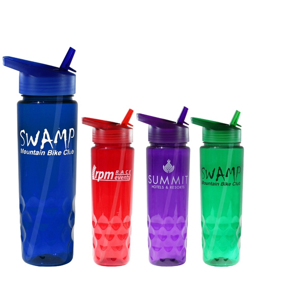 24 Oz. Poly-Saver PET Bottle with Straw Cap