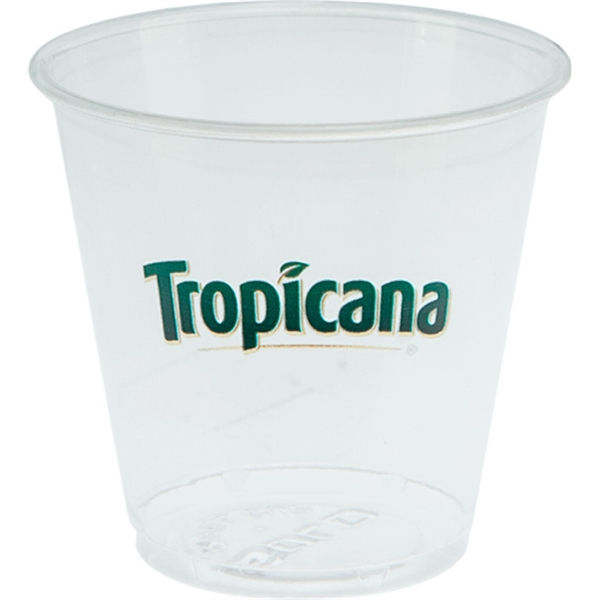 3.5 oz Soft Sided Clear Plastic Cup
