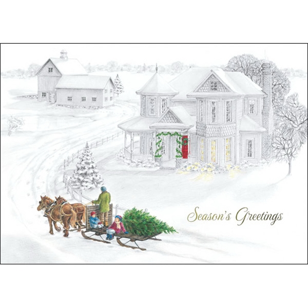 Old fashioned christmas greeting card goimprints old fashioned christmas greeting card m4hsunfo