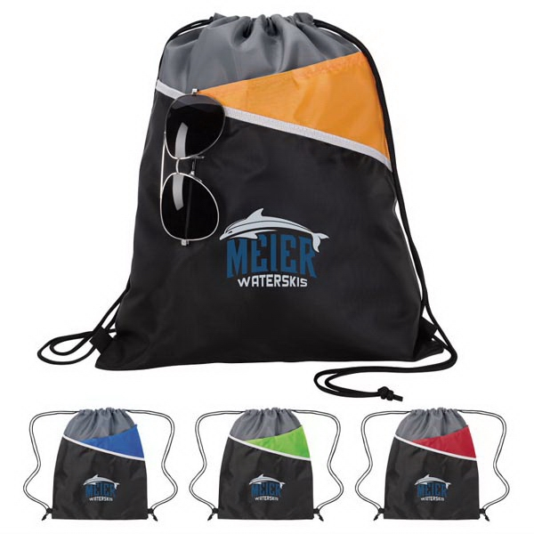Tri-Tone Drawstring Backpack