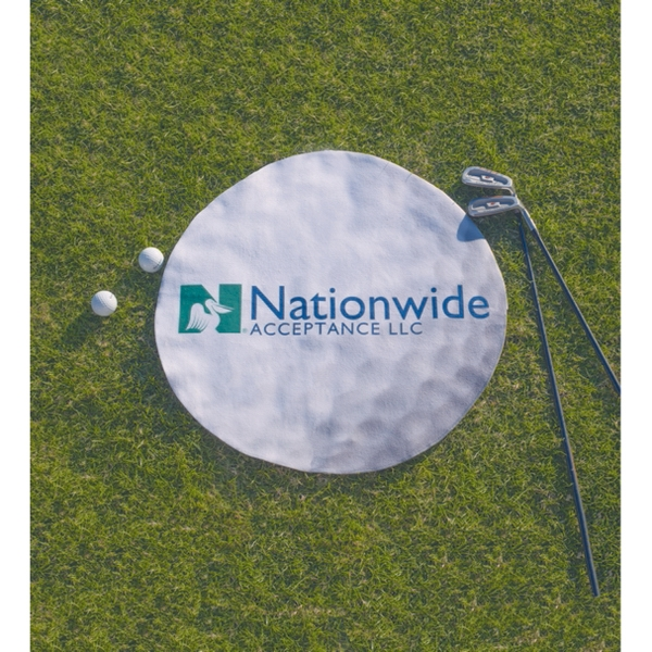 "ColorFusion 20""  Round Golf Towel"