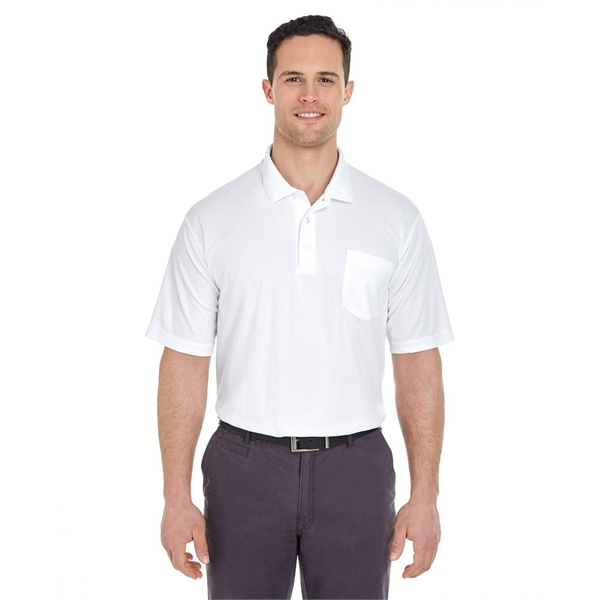UltraClub® Adult Cool & Dry Mesh Pique Polo with Pocket