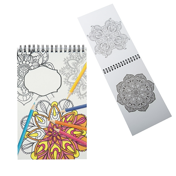 MINI COLORING BOOK WITH SPIRAL BINDING