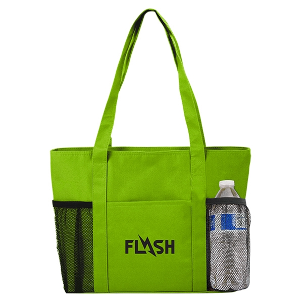 Cooler Tote with Mesh Pockets