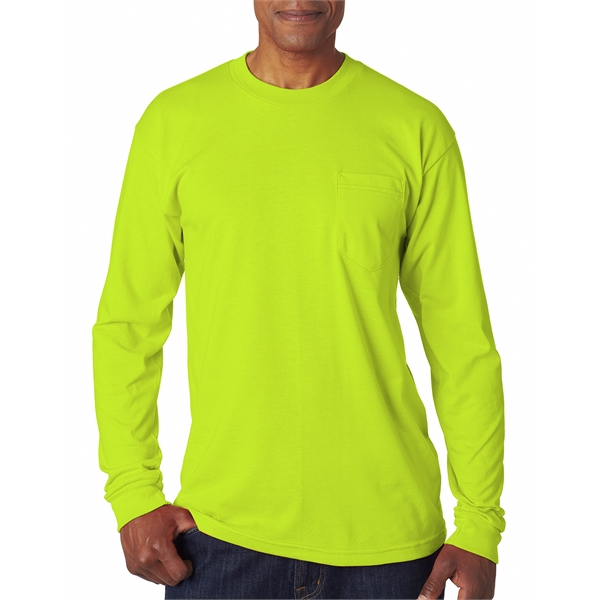 Adult Adult Long-Sleeve Tee with Pocket
