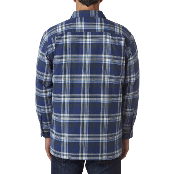 Men S Flannel Shirt Jacket With Quilt Lining Goimprints