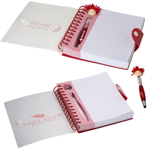Canada Patriotic MopTopper (TM) Stylus Pen & Notebook Set