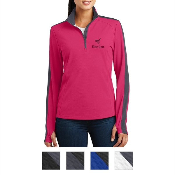 Sport Tek Ladies Sport Wick Textured Colorblock 1 4 Zip Goimprints Is established in 2002 in taichung, taiwan. goimprints
