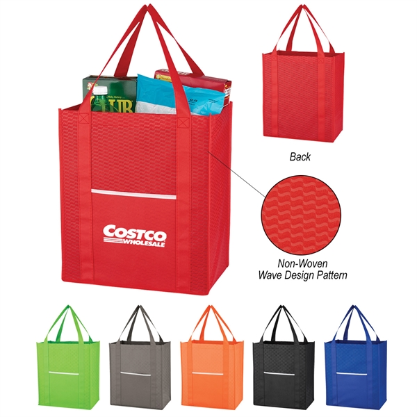 Non-Woven Wave Shopper Tote Bag