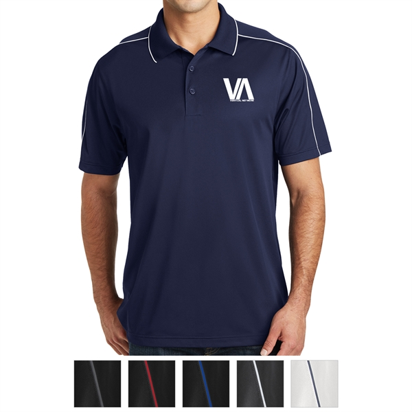 Sport-Tek Micropique Sport-Wick Piped Polo
