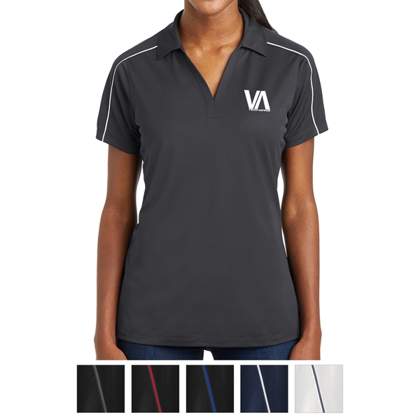 Sport-Tek Ladies' Micropique Sport-Wick Piped Polo