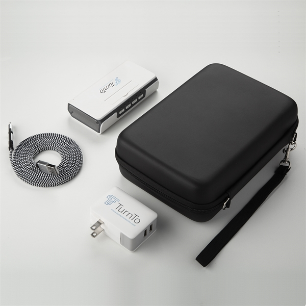 3-in-1 powerbank/Bluetooth speaker, cable, adpator gift sets