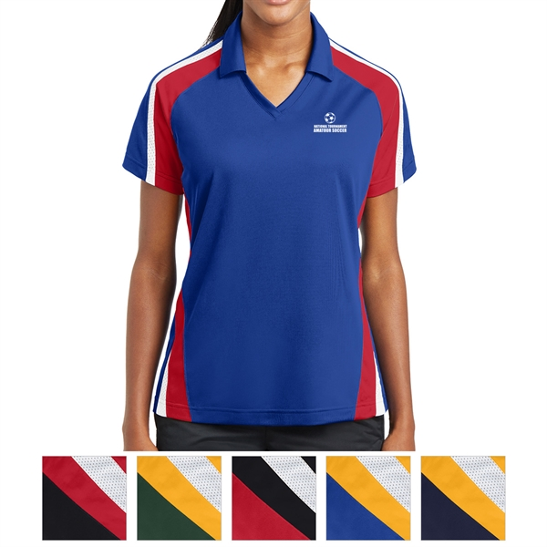 Sport-Tek Ladies' Tricolor Micropique Sport-WickPolo