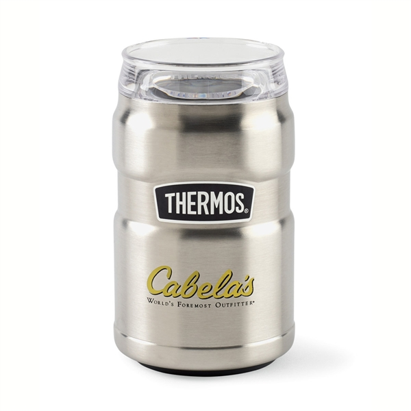 Thermos(R)Stainless King(TM) Can Insulator 360 Drink Lid