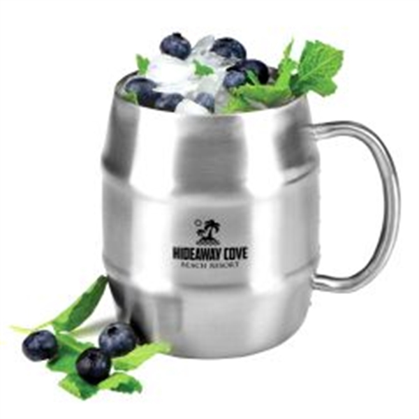 Double Wall Barrel Mug (15oz.)